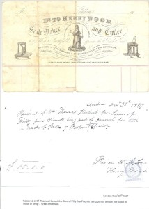 Receipt for Purchase of Wood Business - 1867