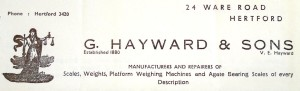 Purchase of goodwill and service contracts of G Hayward & Sons