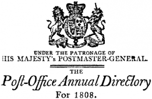 Post Office London Directory