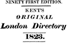 Kent's London Directory