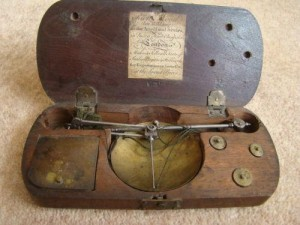 Coin Scale c1790 by Richard Wood