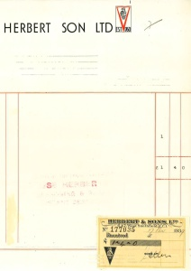 Invoice & Statement of Account 1939 & 1943