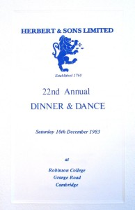 1983 - Robinson College, Cambridge
