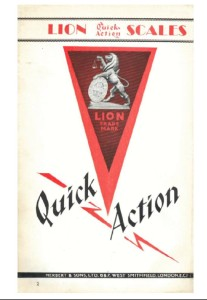Catalogue 1930 (Lion Quick Action scales)