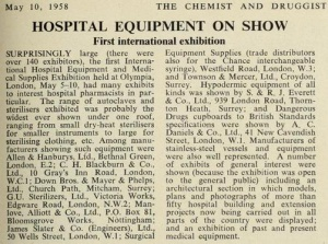 Picture of 1958 - Hospital Equipment Exhibition