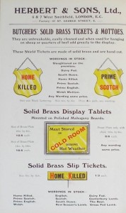 Picture of Ticket - Solid Brass